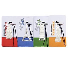 Bộ 4 Đánh Dấu Sách Bookmark Mô Hình Kiến Trúc Kỳ Quan Châu Âu