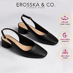 Giày nữ, giày cao gót slingback Erosska mũi vuông kiểu dáng basic gót vuông vững chắc cao 5cm - EL013