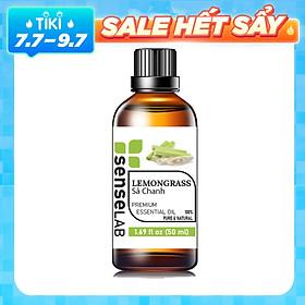 Tinh dầu Sả Chanh nhập khẩu SENSELAB (50ml). Tinh dầu thiên nhiên, Tinh dầu xông phòng giúp thanh lọc không khí, khử mùi, kháng khuẩn, đuổi muỗi, giải cảm, làm đẹp