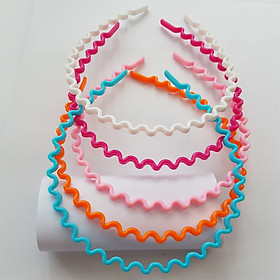 Combo 5 bờm bé gái nhựa màu đáng yêu (Giao mầu ngẫu nhiên)