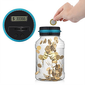 Digital Counting Money Jar for Kids 1.5L LCD Display Coins Counting Piggy Bank Saving Pot Money Saving Jar Present Gifts
