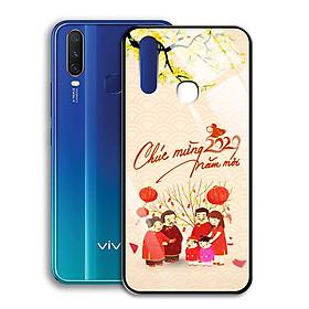 Ốp Lưng Kính Cường Lực cho điện thoại Vivo Y12 - 0361 7982 HPNY 24 - Tết đoàn viên - Hàng Chính Hãng