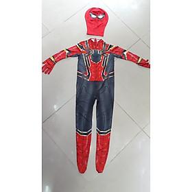 Bộ người nhện Cosplay cho người lớn và trẻ em màu đỏ xanh