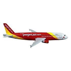 Mô Hình Máy Bay Trưng Bày Vietjet Airl Everfly (Trắng Đỏ Vàng)