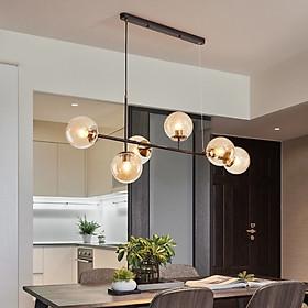 Đèn thả trang trí bàn bếp 6 bóng mạ cao cấp TH751