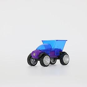 Ô tô đồ chơi lắp ráp xe tải cho bé trên 3 tuổi bộ Magnetic block car