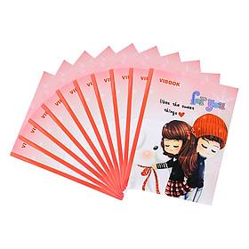 """Lốc 10 Quyển Tập Vibook Happy """"For You"""" (96 Trang) - Mẫu Ngẫu Nhiên"""