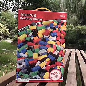 Combo 2 Bộ Đồ Chơi xếp hình 1000 chi tiết – Bộ lắp ghép nhựa an toàn – phát triển óc sáng tạo – quà tặng ý nghĩa của cha mẹ