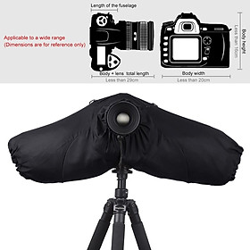Professional Camera Rain Cover Coat Bag Protector Rainproof Against Dust Raincoat for Canon/Nikon/Song DSLR SLR Cameras