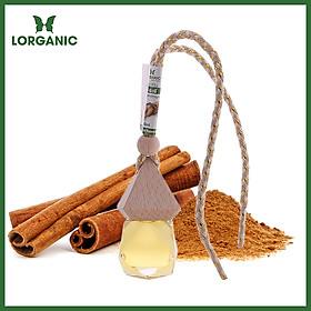 Tinh dầu quế Lorganic treo xe hơi, tủ áo (10ml), Tinh dầu thiên nhiên nguyên chất/ Giảm stress, xua đuổi côn trùng và khử mùi hiệu quả/ Khử mùi tủ quần áo, lưu giữ hương thơm.