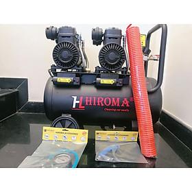 Máy nén khí chính hãng HIROMA Model DHL - 0550 Plus dung tích 50 lít động cơ mới siêu nạp Supercharger, máy cực đẹp nạp hơi cực kỳ nhanh chóng là mẫu máy nén khí được ưa chuộng nhất