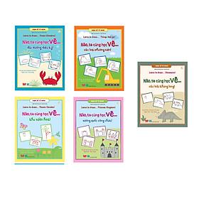 Combo 5 quyển sách dành tặng các họa sĩ nhí: Họa sĩ tí hon - Learn to draw…(Các Loài Khủng Long+ Vương Quốc Công Chúa+ Khu Vườn Hoa+ Các Loại Phương Tiện+ Đại Dương Diệu Kỳ)
