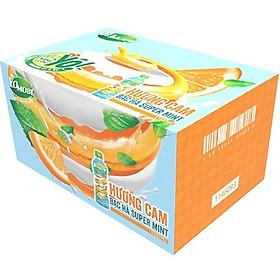Thùng 24 chai Yomost Sữa Trái Cây Cam Bạc Hà (270ml/Chai)