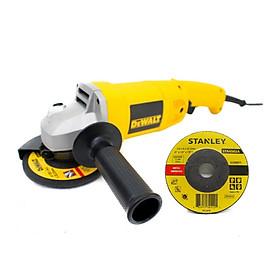 Combo Máy mài cầm tay Dewalt DW830-B1 125mm-1.400W và Đá mài Stanley STA4502A 125 x 6.0 x 22mm