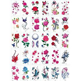 Combo 30 tờ hình xăm dán tatoo thời trang nhiều mẫu