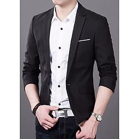 Áo vest nam Kaki fon màu đen phối viền túi VP043VPC
