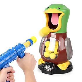 Bộ đồ chơi trẻ em bắn bóng chú vịt Duck (1 chú vịt chứa bóng, 2 súng bắn, 24 quả bóng cao su)