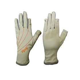Găng tay hở ngón chống nắng UPF50+ kem xám Zigzag GLV00810