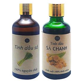 Combo 2 Chai Tinh Dầu Sả Chanh + Tinh Dầu Sả Java Ngọc Tuyết (50ml x 2)