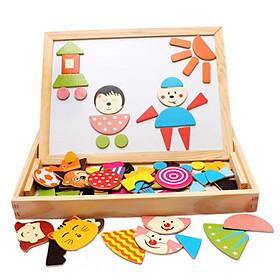 Bộ đồ chơi gỗ ghép hình sáng tạo
