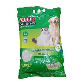 Cát vệ sinh cho mèo 5L SUNPET CAT SAND - Cát không mùi