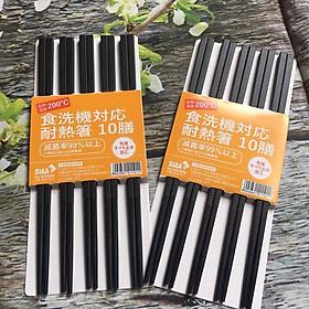 Bộ 10 đôi đũa kháng khuẩn Shi Sai nội địa Nhật Bản