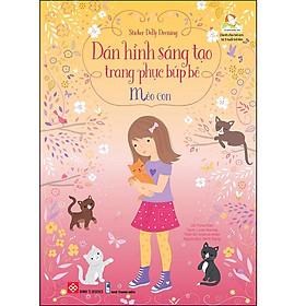Sticker Dolly Dressing - Dán Hình Sáng Tạo Trang Phục Búp Bê - Mèo Con