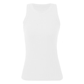 Women Tank Tops Racer Back Ribbed O Neck Sleeveless Vest Sports Clubs Holiday Beach Casual Tops