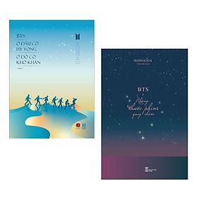 Combo 2 cuốn sách Mới Nhất của BTS: BTS - Ở Đâu Có Hy Vọng Ở Đó Có Khó Khăn + BTS - Những Thước Phim Quay Chậm (Tặng kèm bookmark Happy Life)