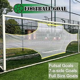 Football Net Goal Practical Yellow White 5 Person System Ball Sports Goalkeeper-2