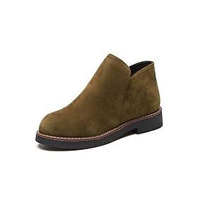 Giày Bốt Nữ Da Lộn Mềm Mịn Cá Tính 3Fashion - MSP 3123