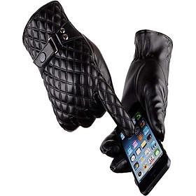 Găng tay da nam cảm ứng điện thoại chống nước GTDNCC08