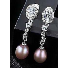 Bông Tai Ngọc Trai Cao Cấp B2353 Cỡ Hạt 7x9 Ly Bảo Ngọc Jewelry