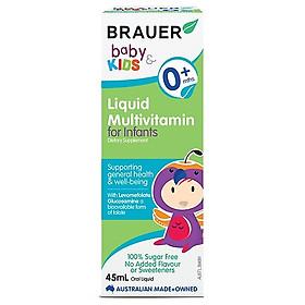 Vitamin tổng hợp Brauer Baby & Kids Liquid Multivitamin For Infant cho trẻ sơ sinh 0-12 tháng tuổi (45ml)
