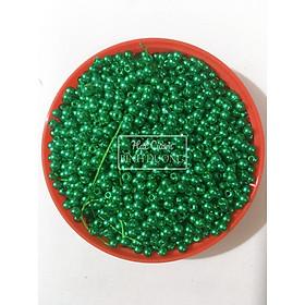 4000 Hạt bẹt (cườm nhựa)giả trai trang trí 3mm gói 100gr