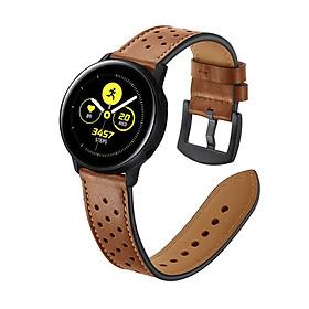Dây Da Sport Leather Dành Cho Galaxy Watch Active 2, Galaxy Watch Active 1, Galaxy Watch 42 (Size 20mm)
