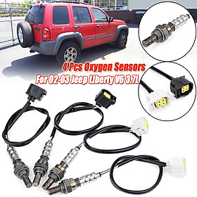 4pcs/Kit Upstream & Downstream Oxygen O2 Sensor For Jeep Liberty V6 3.7L 2002-03