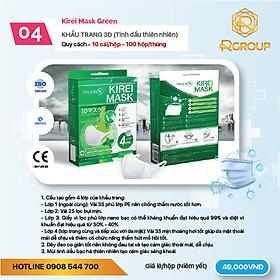 Khẩu trang kháng khuẩn 3D Mask Green - Tinh dầu thiên nhiên - Kirei Mask Doctor K - 10 cái/hộp