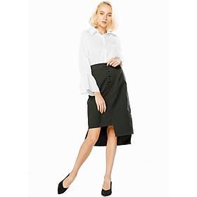 Chân váy xẻ đính nút Lovadova ( free size )