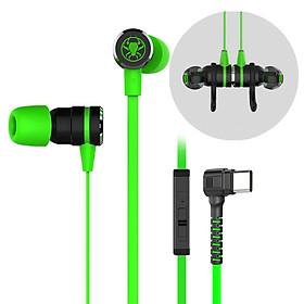 Tai nghe USB Type C Gaming cho điện thoại tương thích với xiaomi, samsung, oppo Plextone G20, Jack cắm chữ L chống gẫy, dây dẹt chống rối dài 1.2m, hỗ trợ chống ồn, nghe nhạc hay, tích hợp mạch lọc âm thanh nghe nhạc hay hơn tai nghe AKG. - Hàng Chính Hãng.