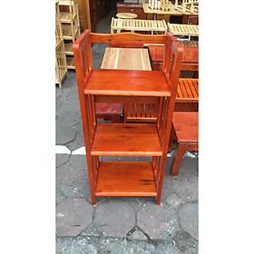 Kệ Sách 3 Tầng Dài 40 cm Gỗ Cao Su