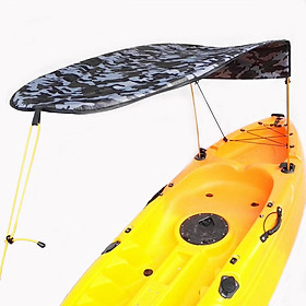 1-person Inflatable Boat Kayak Sun Shelter Awning Top Cover Sun Shade Blue
