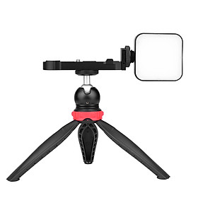 Video Vlog Kit with LED Light Ball Head Tripod L Mount Plate for Video Making Replacement for Canon G7X Mark III/II