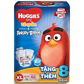 Tã Quần Huggies Dry Gói Cực Đại Angry Birds Phiên Bản Giới Hạn XL62 (62 Miếng) - Tặng 8 Miếng