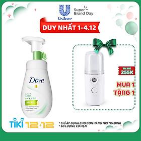 Sữa Rửa Mặt Dạng Bọt Dove Tinh Chất - Serum Se Khít Lỗ Chân Lông Và Kiềm Dầu 160Ml