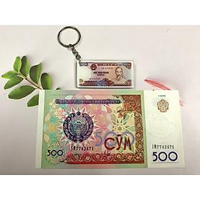 Tiền mã đáo thành công Uzbekistan , tuổi Ngọ -tặng kèm móc khóa hình tiền xưa