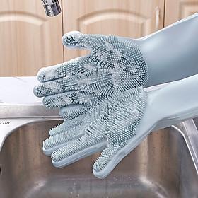 Găng Tay Rửa Bát Silicon Tạo Bọt Đa Năng (Giao Ngẫu Nhiên Mẫu)