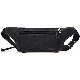 Túi đeo chéo đeo bụng đeo hong Vải bố siêu mỏng Tintin LAS12 Shalla