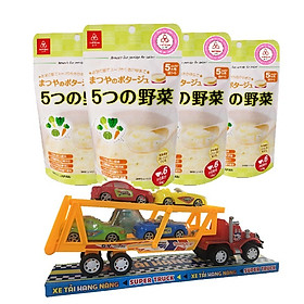 Combo 4 gói cháo ăn dặm Matsuya 5 loại rau củ – tặng 1 xe container và 4 xe tải