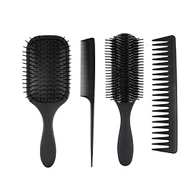 4Pcs Paddle Hair Brush Hair Scalp Massage Comb Set for Men and Women Wet Dry Hair Combs Hairbrush for Styling & Grooming